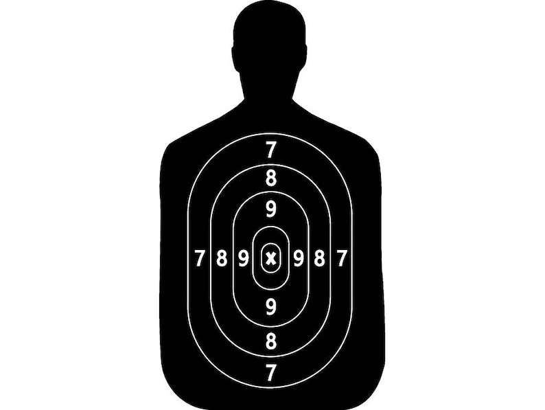 image regarding Printable Silhouette Shooting Targets named Taking pictures Aim #11 Human Athletics Doing exercises Train Sport Gun Selection Archery Coach USPSA Compeion.SVG .EPS Vector Cricut Minimize Reducing History