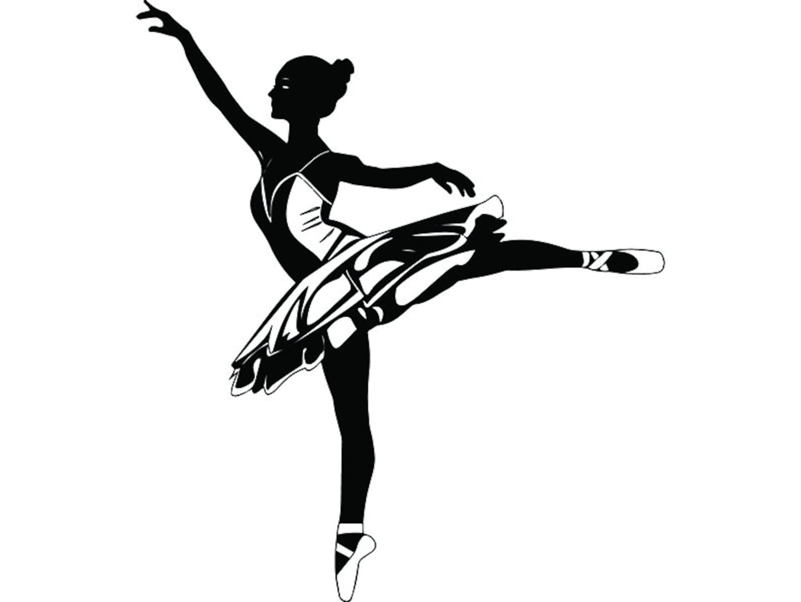 ballet dancer #2 ballerina music dance performance dancing dancer classical grace logo .svg .png clipart vector cricut cut cutti