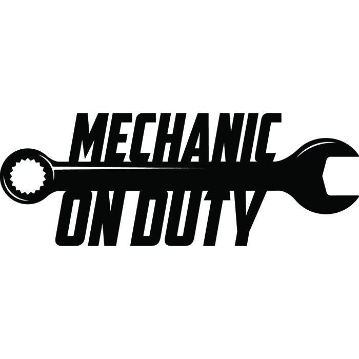 Mechanic Logo 97 Wrench Engine Auto Car Part Biker