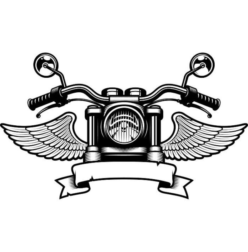 Motorcycle Logo 5 Handle Bars Wings Bike Biker Chopper Etsy