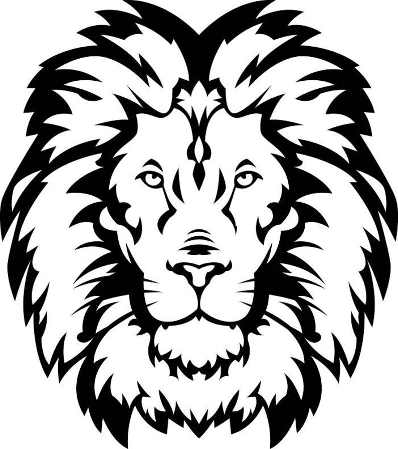 Lion #15 Head Wild Cat School Mascot Company Logo  SVG  EPS  PNG Instant  Digital Clipart Vector Cricut Cut Cutting Download Printable File