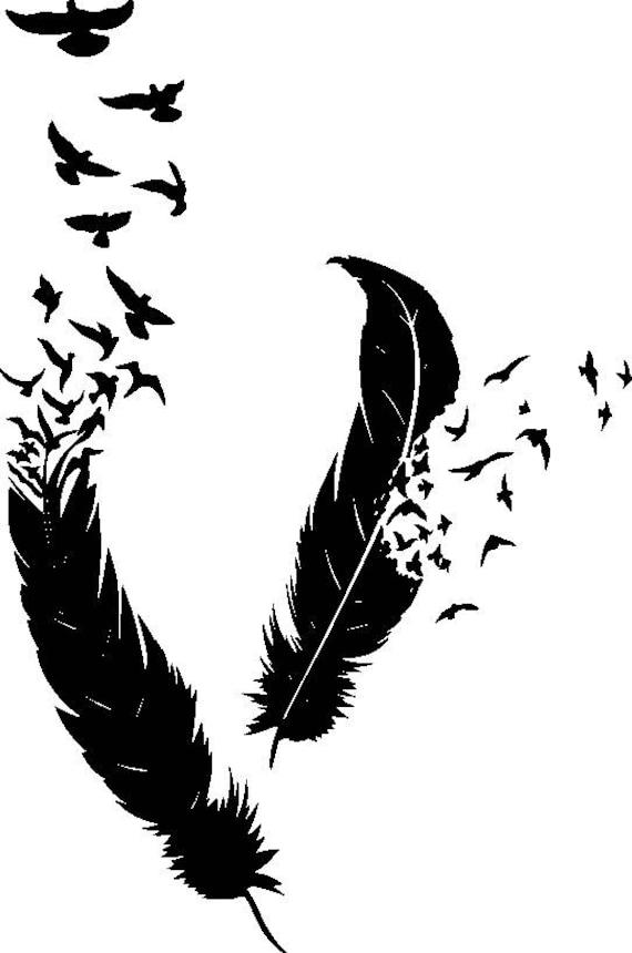 Feather Made Of Birds Art Writing Writer Symbolism Life Etsy