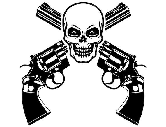 Pistol 1 Skull Revolver Gun Weapon Permit Armed Personal