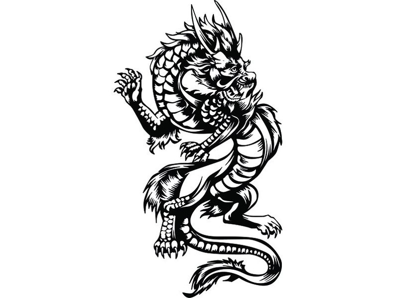 Dragon 4 Traditional Chinese Art Fantasy Monster Creature