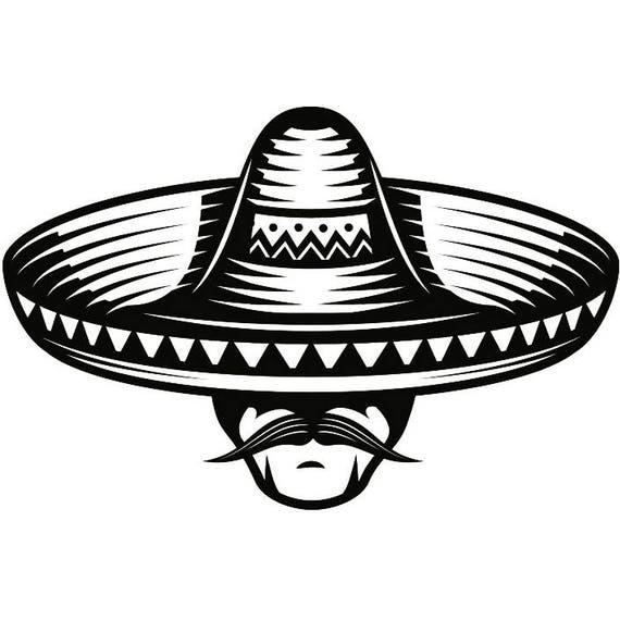 Mexican Bandit 2 Skull Sombrero Mustache Wild West Killer Tattoo Skeleton T Shirt Svg Eps Png Digital Vector Cricut Cut Cutting Download