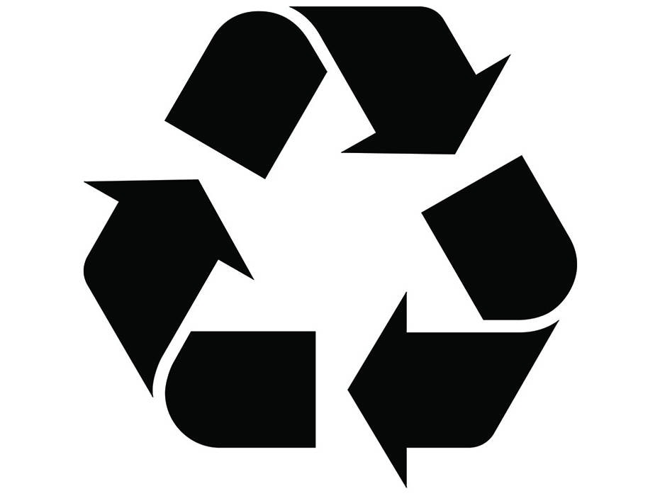 Recycle Symbol 1 Recycled Recycling Ecological Environmental Etsy