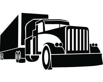 Truck Driver #21 Trucker Big Rigg 18 Wheeler Semi Tractor Trailer Cab Flat Bed Company Trucking Logo.SVG .EPS .PNG Vector Cricut Cut Cutting