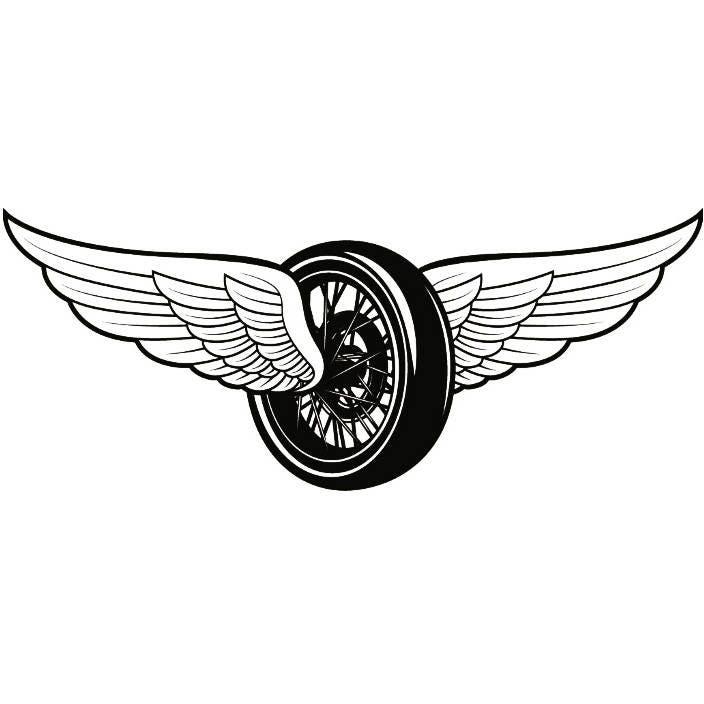 Mechanic Logo 33 Tire Wings Engine Auto Car Part Biker Etsy