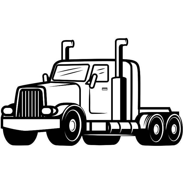 truck driver 12 trucker big rigg 18 wheeler semi tractor trailer rh etsystudio com 18 wheeler clipart side view