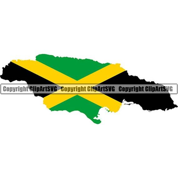 Jamaica Jamaican Reggae Rasta Caribbean Country World National Nation Flag  Map Logo Art .JPG .PNG Clipart Clip Art Design Graphic File