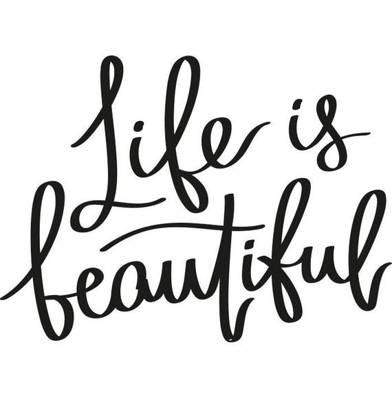 Life Is Beautiful Printable Quote Picture Pic Photo Frame Wall | Etsy