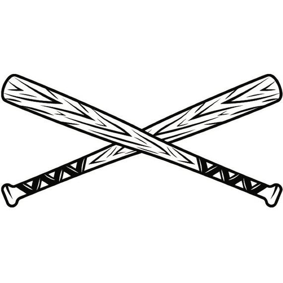 Baseball Logo 5 Bats Crossed Ball Diamond League Equipment Etsy
