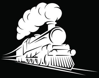 Steam Engine #17 Train Locomotive Vintage Railroad Railway Track Coal Transportation Logo .SVG .EPS .PNG Clipart Vector Cricut Cut Cutting