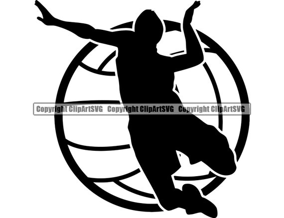 Volleyball Logo 6 Male Mens Boys Ball Player Sport Team Sport Etsy