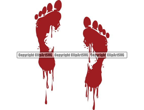 Blood Bloody Foot Print Feet Smear Drip Dripping Drop Cut Etsy Here you can explore hq paw print transparent illustrations, icons and clipart with filter setting like size, type, color etc. blood bloody foot print feet smear drip dripping drop cut injury wound liquid spill horror design element logo svg png clipart vector cut