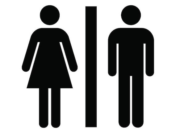 Men Woman Gentlemen Ladies Girls Boys, Men And Women Bathroom Sign