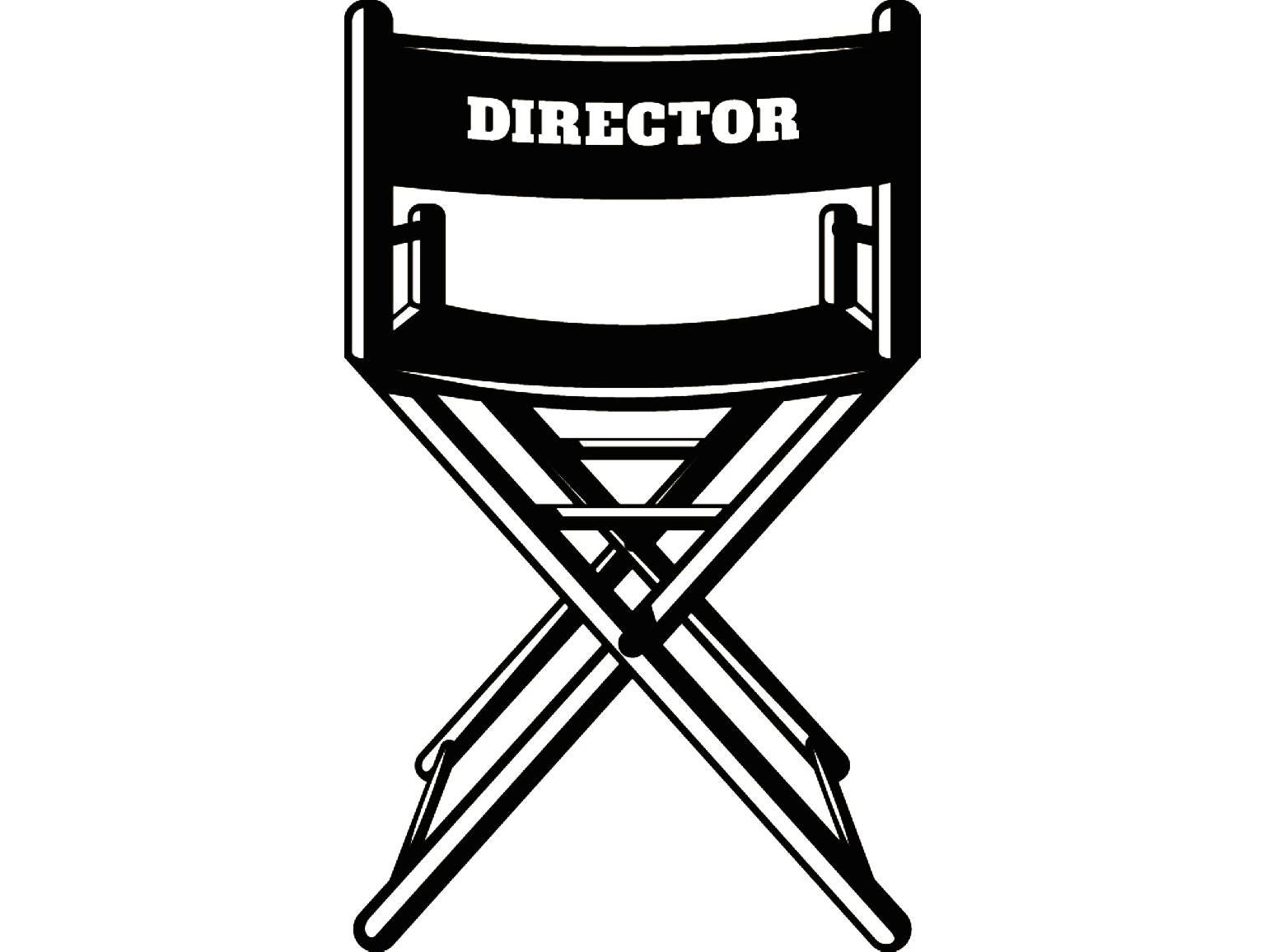 director chair cinema theater masks acting actor actress movie hollywood producer  svg  eps  png