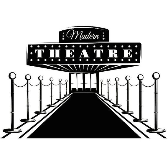 Theater Entrance 1 Red Carpet Movie Sign Play Cinema