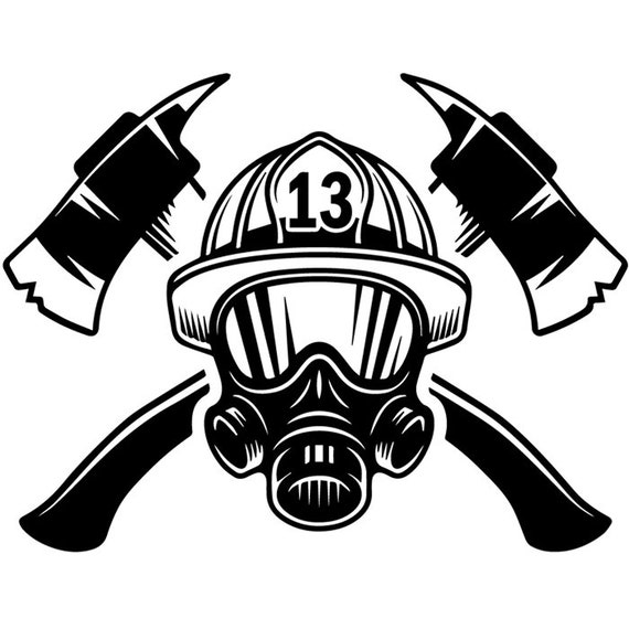 Firefighter Logo 23 Firefighting Rescue Axes Fireman