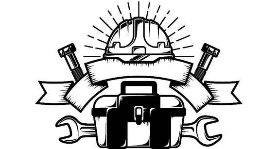 construcci u00f3n logo 16 llave casco herramienta caja de