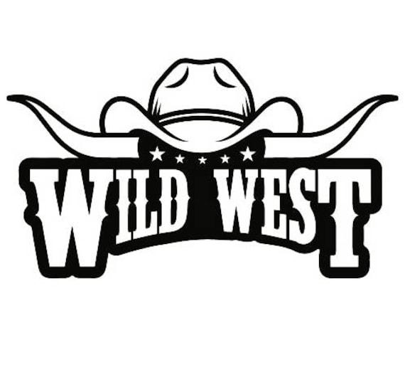 cowboy logo 10 bull horn wrangler horse country western rodeo etsy