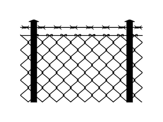 Barbed Wire Fence #2 Chain Link Straight Razor Barb Fencing Jail ...