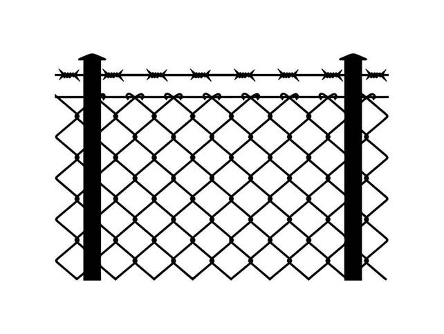 Stacheldraht Zaun 2 Kette Link Rasiermesser Barb Fechten   Etsy