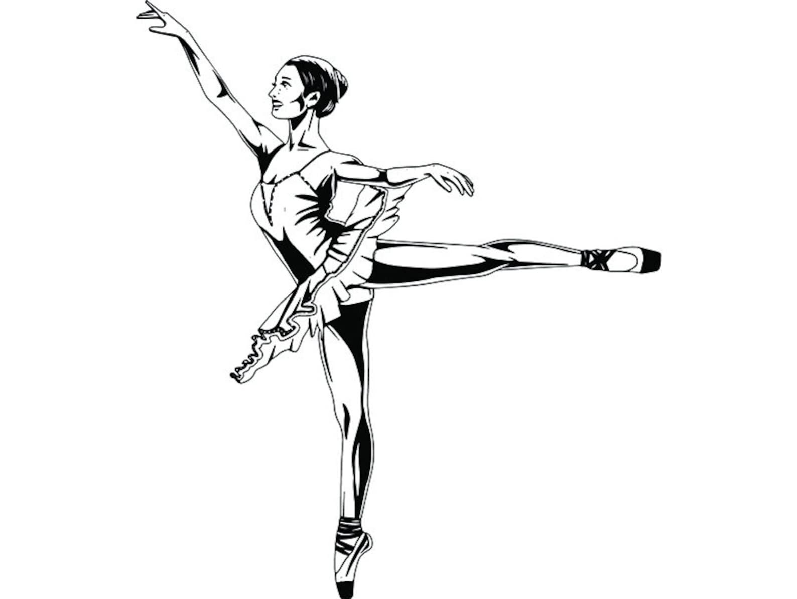 ballet dancer #3 ballerina music dance performance dancing dancer classical grace logo .svg .png clipart vector cricut cut cutti