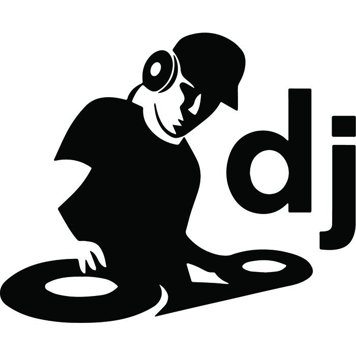dj deejay logo 4 turntable record player mixer disc jockey