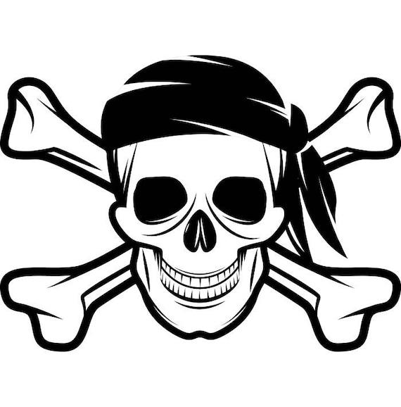 pirate skull 3 crossbones cap hat jolly roger ship boat etsy rh etsy com Pirate Flag Clip Art Pirate Ship Clip Art
