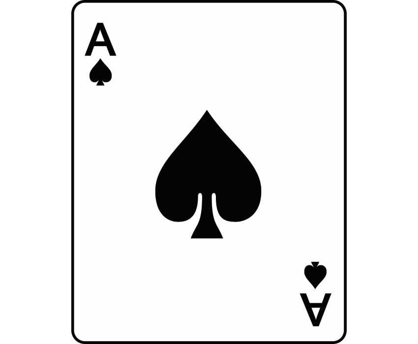 Poker 6 Ace Of Spades Playing Card Gambling Gamble Casino