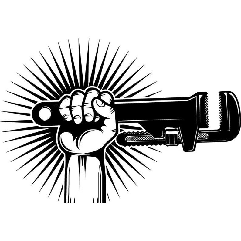 Impianto idraulico Logo 11 mano chiave di tubo idraulico  38752123c5ec