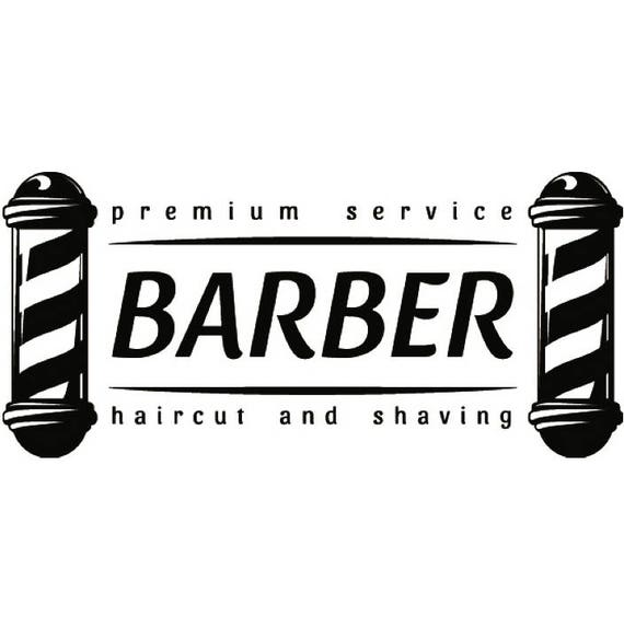 Barber Logo 26 Salon Shop Haircut Hair Cut Pole Grooming Etsy