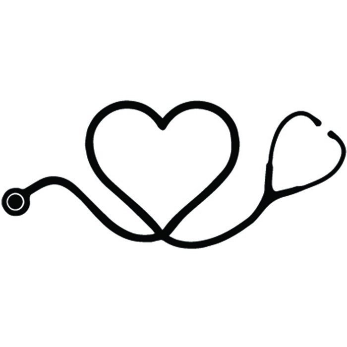 Nurse Logo 2 Registered Nursing Scrub Medical Doctor Heart