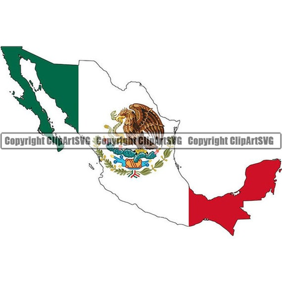 Mexico Mexican Spanish North America Country World National Nation Flag Map  Logo Art .JPG .PNG Clipart Clip Art Design Graphic Download