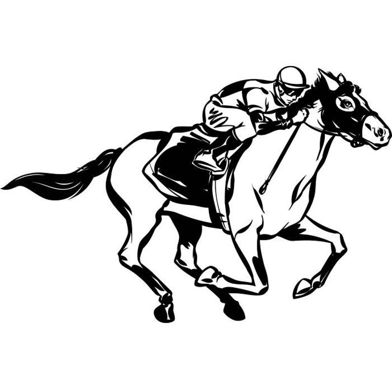 Horse Racing 2 Jockey Track Betting Stallion Equestrian Competition