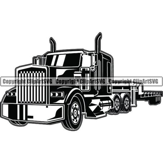 Truck Driver 57 Flatbed Trucker Big Rigg Semi Tractor Trailer Etsy