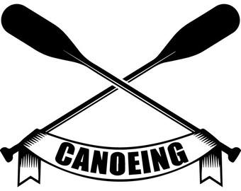 Kayak Logo 27 Kayaking Canoe Canoeing Rafting Water Paddle Paddling Ore Row Boat Rowing