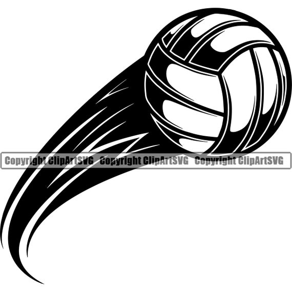 Volleyball Ball 7 Action Motion Flying Player Sports Team Etsy