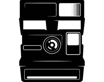 Camera #4 Instant Polaroid Photography Photographer Digital Lens Photo Equipment Art Vintage Retro .SVG .EPS .PNG Vector Cricut Cut Cutting