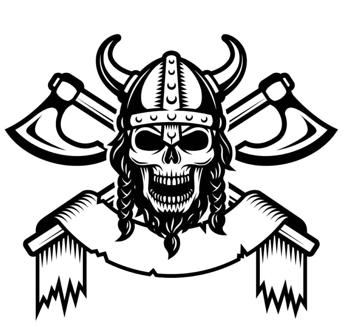 viking logo 1 sch del helm h rner achsen krieger svg eps. Black Bedroom Furniture Sets. Home Design Ideas