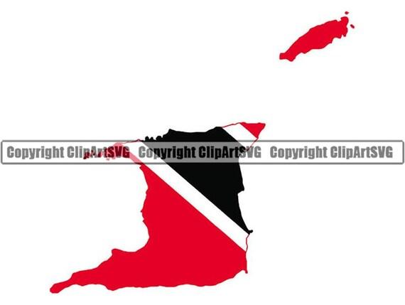 Trinidad And Tobago Map Flag Decal Sticker Car Vinyl pick size no bkgrd