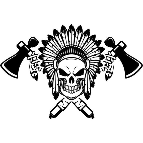 Indian Logo 12 Native American Warrior Heritage Wild West Etsy