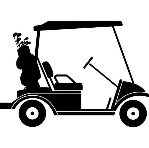 golf cart 3 golfer golfing clubs sports course cart car ball etsy rh etsy com golf cart clip art images golf cart clip art free