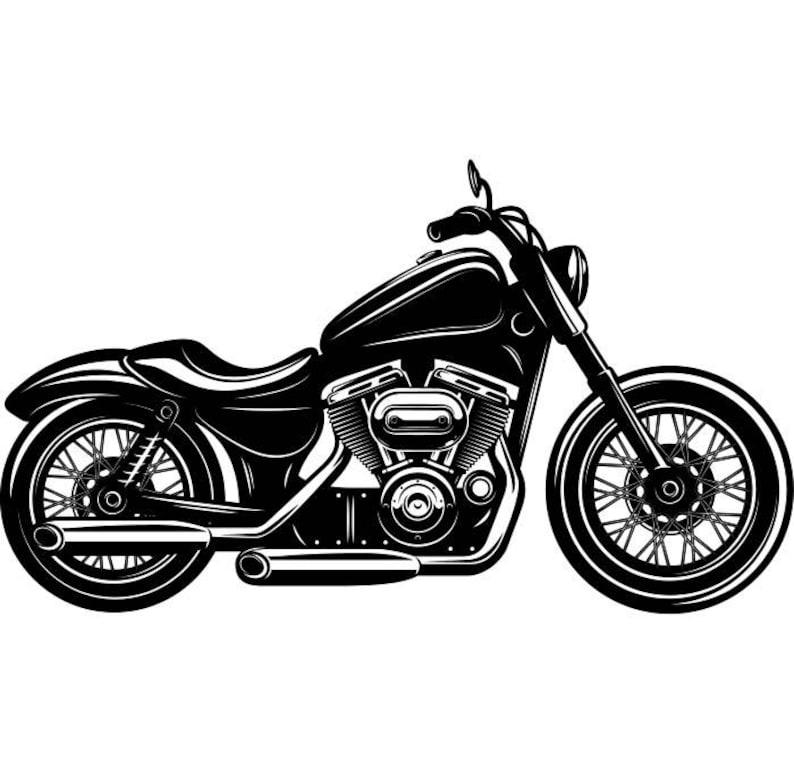 Motorcycle 6 Chopper Outlaw Bike Biker Repair Shop Logo Svg Etsy