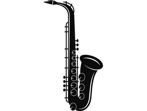 Saxaphone Saxophone Musical Instrument Classical Jazz Music  SVG  EPS  Instant Digital Clipart Vector Cricut Cutting Download Printable File