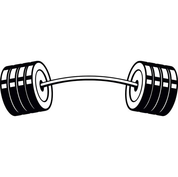 barbell 4 curved bar weightlifting bodybuilding fitness etsy rh etsy com barbell clipart black and white barbell weight clipart