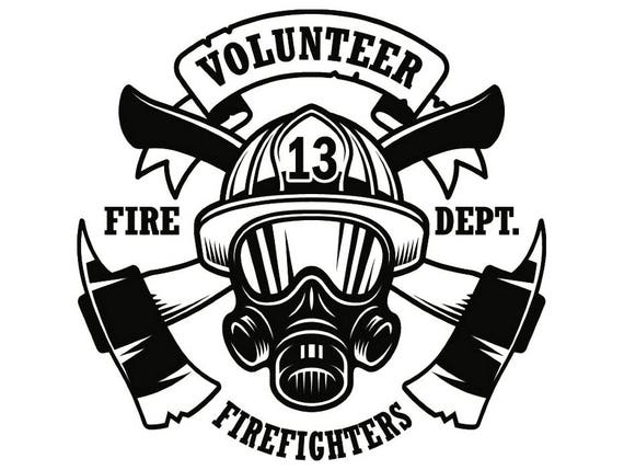 firefighter logo 9 firefighting rescue volunteer axe hydrant etsy Fire Rescue Saws Husqvarna image