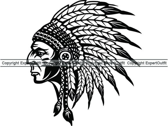 Indians Clipart Headdress - Native American Wolf Design, HD Png Download -  vhv