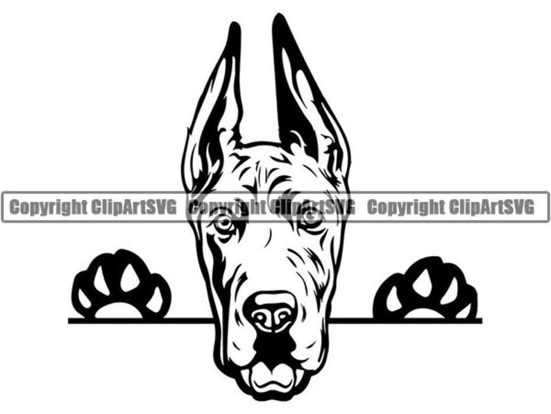 Great Dane 3 Peeking Big Dog Breed Pedigree Canine Purebred K 9 Pet Hound Animal Svg Png Clipart Vector Cricut Cut Cutting Download File